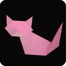 cách gấp con mèo đơn giản theo kiểu Origami