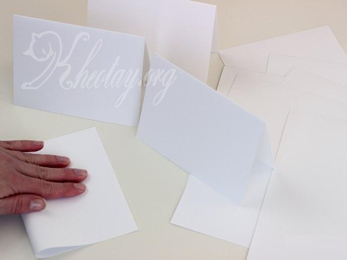 Cách làm thiệp handmade đơn giản