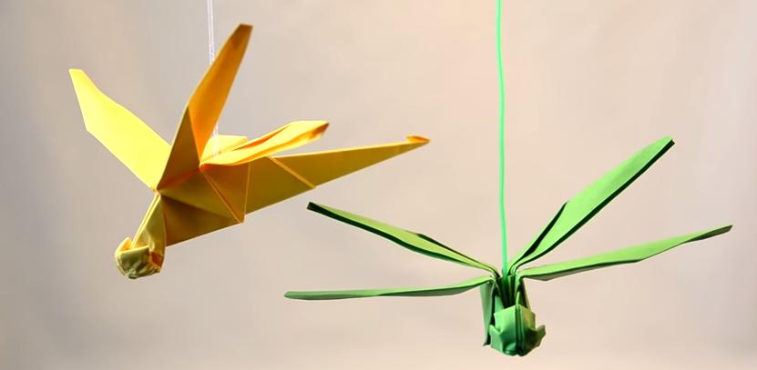 cách gấp con chuồn chuồn bằng giấy