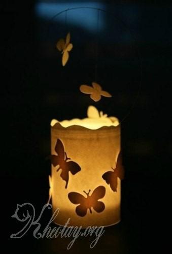 cách làm đèn trang trí đơn giản mà đẹp
