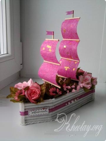 Cách làm thuyền trang trí đơn giản