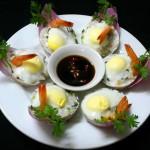 Cách làm tôm hấp trứng cút ngon