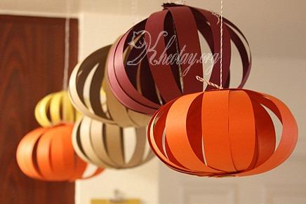Cách làm đèn lồng bằng giấy đơn giản