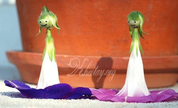 Cách làm đồ chơi cho bé gái từ hoa Khiên Ngưu
