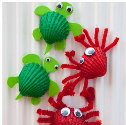 Cách làm đồ chơi sáng tạo từ vỏ sò