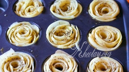Cách làm khoai tây chiên ngon hình bông hoa