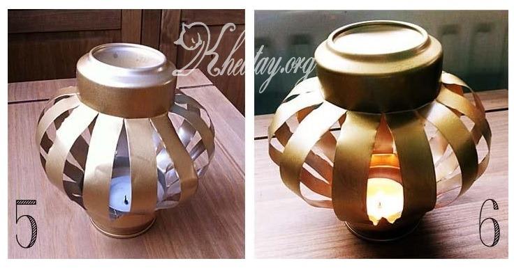 Tự làm đèn trung thu đơn giản từ vỏ lon bia