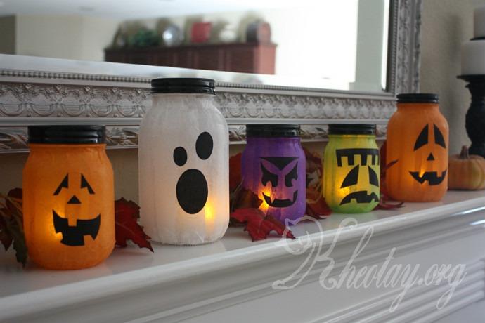 Cách làm đèn Halloween đơn giản