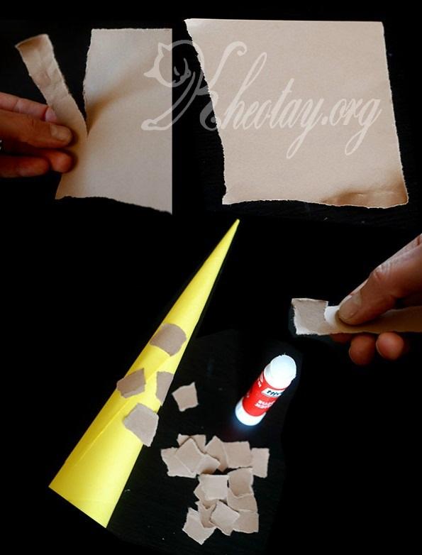 Cách làm đồ chơi bằng giấy đơn giản hình hươu cao cổ