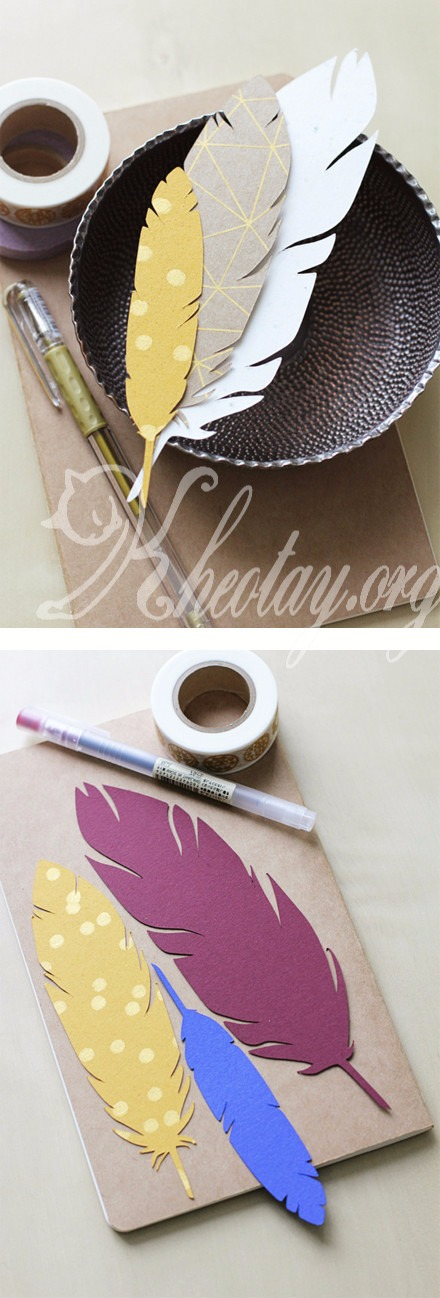 Cách làm đồ trang trí handmade dễ thương hình lông chim
