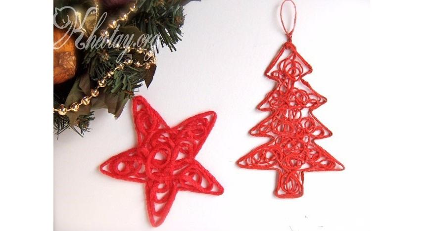 Cách làm đồ trang trí Giáng Sinh đơn giản từ len