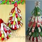 Cách làm cây thông Noel bằng giấy màu đơn giản