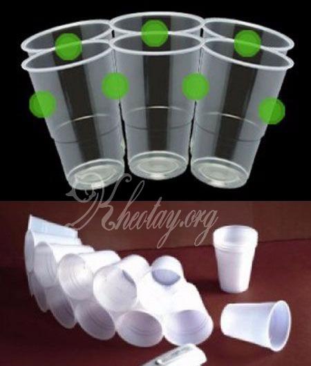 Cách làm người tuyết bằng cốc nhựa