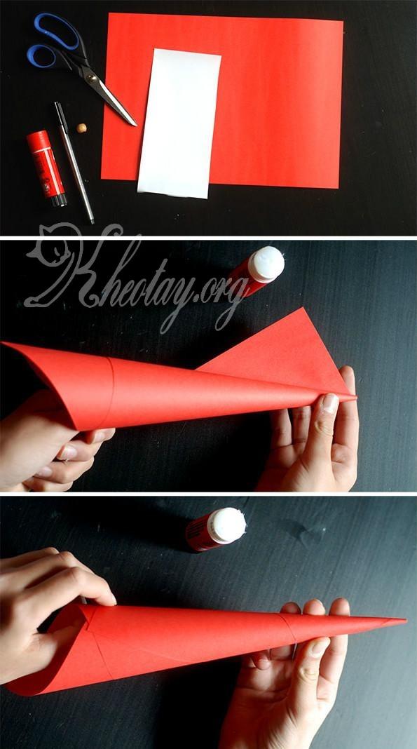 Cách làm ông Già Noel bằng giấy đơn giản nhất
