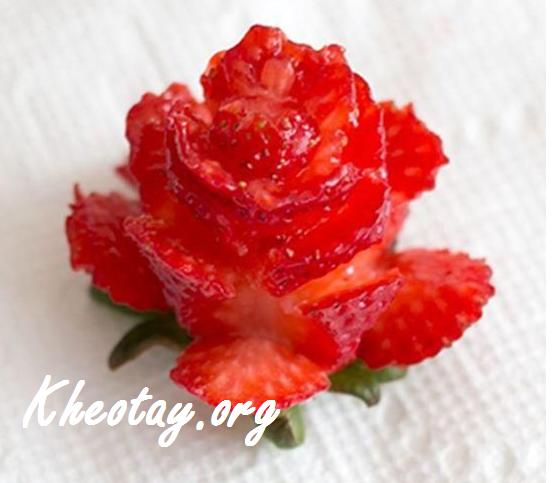 Cách tỉa hoa hồng từ dâu tây