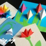 Tự làm thiệp handmade đơn giản hình bông hoa