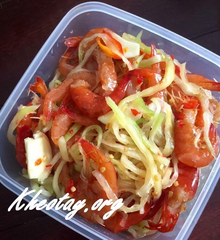 Cách làm tôm chua ngon