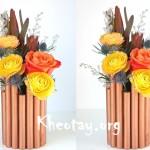 Cách làm lọ hoa đơn giản từ vỏ lon