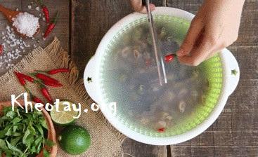 Cách làm ốc rang muối ớt ngon