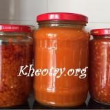 Cách làm sa tế, tương ớt, ớt chua ngọt tại nhà ngon
