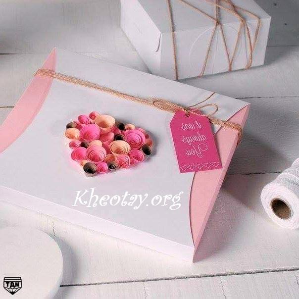 Cách trang trí hộp quà đơn giản mà đẹp