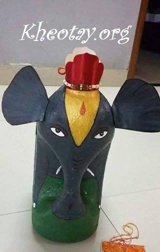 Hướng dẫn tái chế can nhựa thành con voi