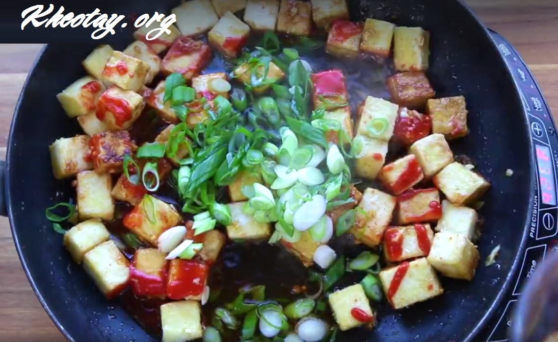 Cách làm món chay ngon từ đậu hũ. Đậu sốt chay ngon