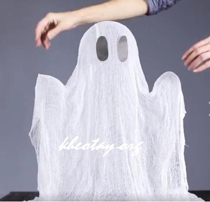 Cách làm con ma Halloween đơn giản