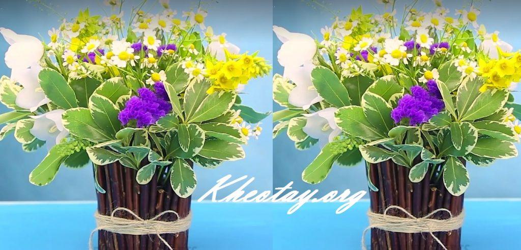 Cách cắm hoa đơn giản mà đẹp