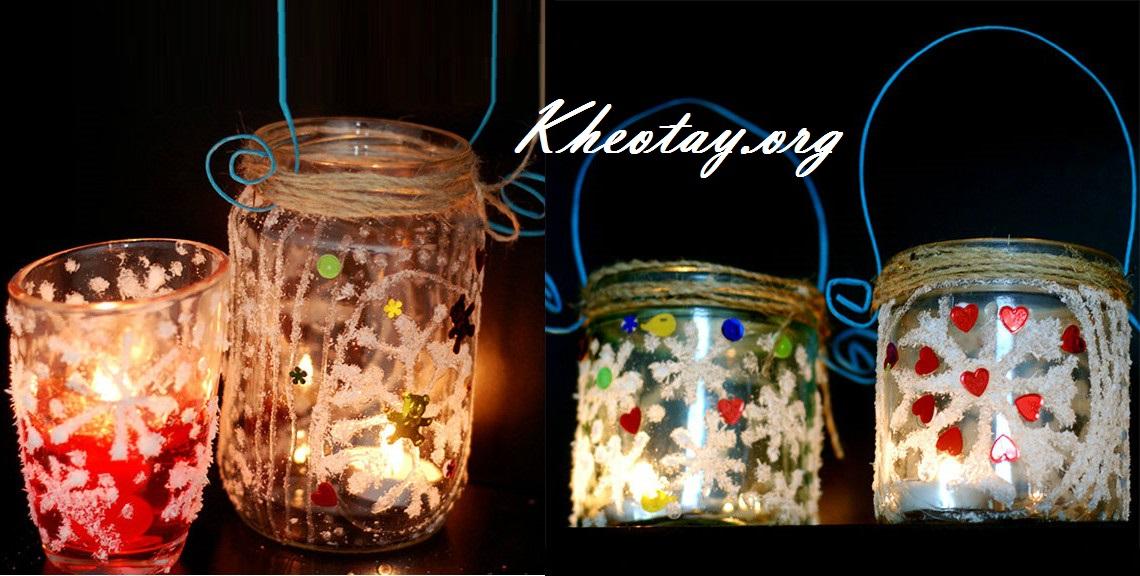 Cách làm đèn trang trí Giáng Sinh đơn giản mà đẹp