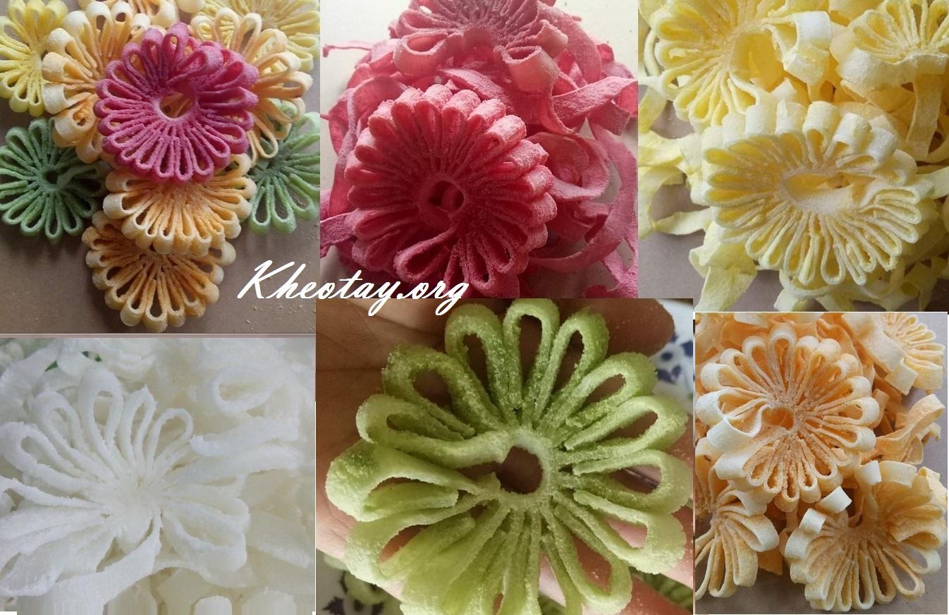 Cách làm mứt dừa hình hoa đẹp