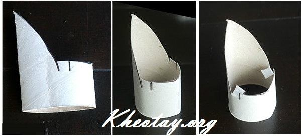 Cách làm đế điện thoại đơn giản mà đẹp từ lõi giấy vệ sinh